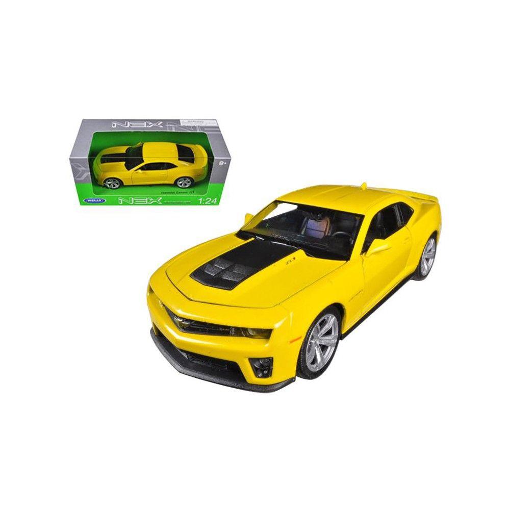 Chevrolet Camaro Zl1 Yellow 1 24 Diecast Car Model By Welly Camaro Models Car Model Chevrolet Camaro