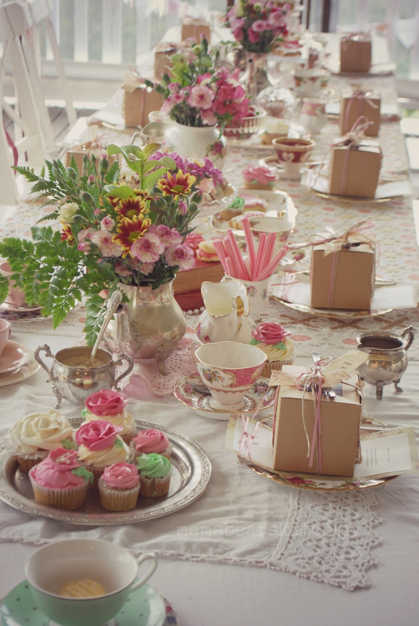 This Is The Afternoon High Tea That We Have Arranged For Roses