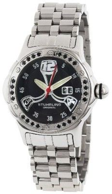 Relógio Stuhrling Original Women's 5ABS.121127 Champion Alpine La Femme Swiss Quartz Mother-Of-Pearl Date Black Dial Watch #relogio #StuhrlingOriginal