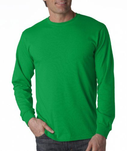 Adult Heavy Cotton HD Long-Sleeve T-Shirt (Kelly Green)