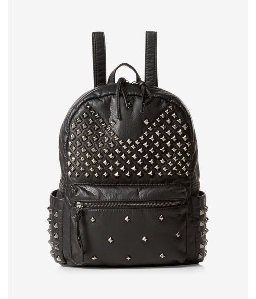 bea4a9c6dcf4c9 Stud Embellished Backpack Women's Black | Products | Studded ...