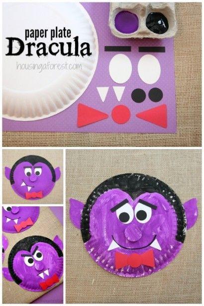 Paper Plate Dracula Halloween Pinterest Halloween Halloween