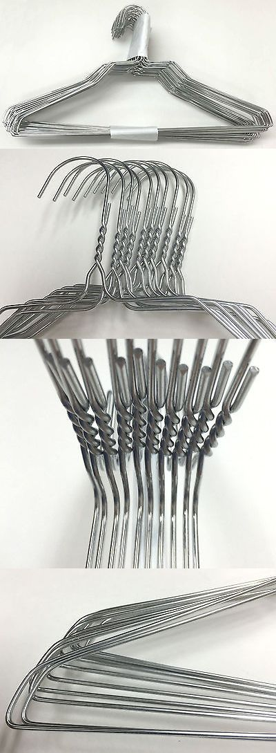 """50 Strong Metal Silver Color Steel Wire Hangers Shirt Clothes Size 16/"""" 13 Gauge"""