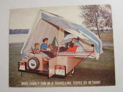 Traveling Teepee We Had One Of These Pop Up Campers When I Was A