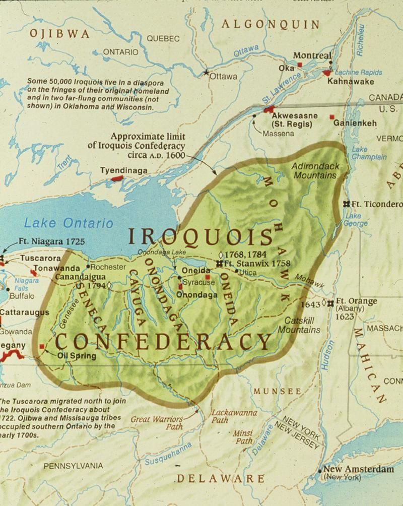 six nations of the iroquois confederacy (haudenosaunee). the six