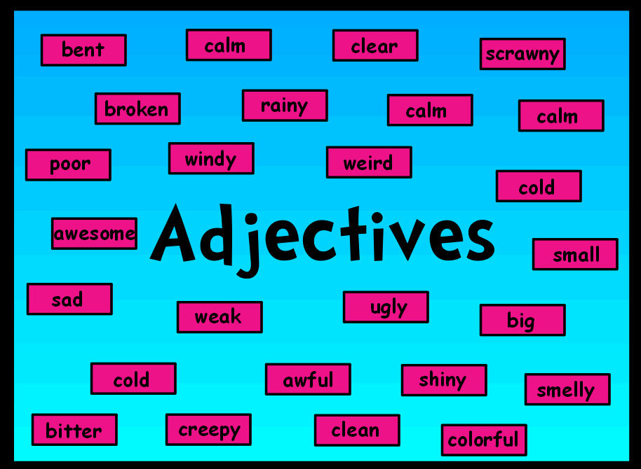 What is an adjective? Simply put adjectives are descriptive words ...