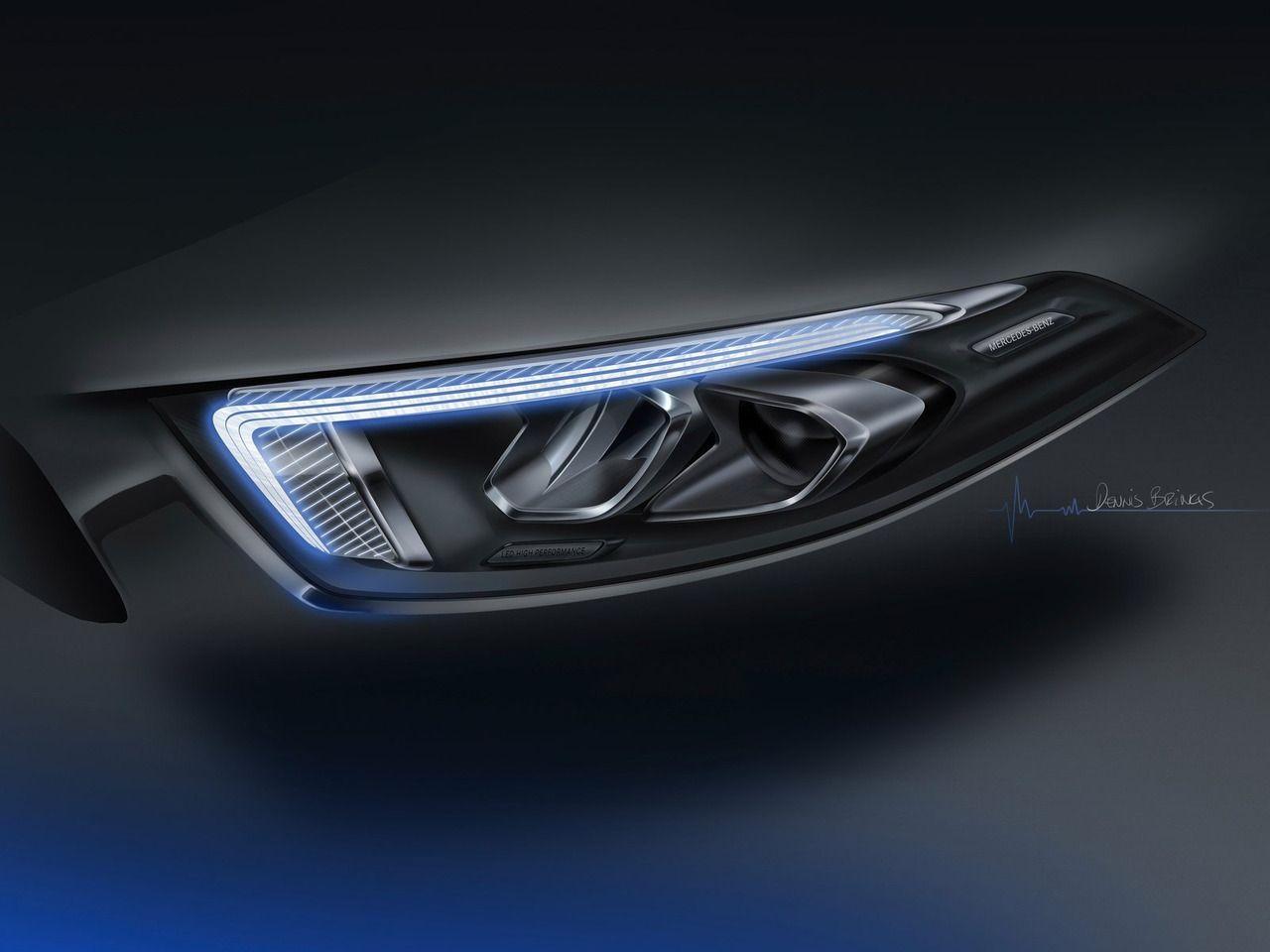 Mercedes-Benz A-Class (2019) Headlight sketch | Car headlights
