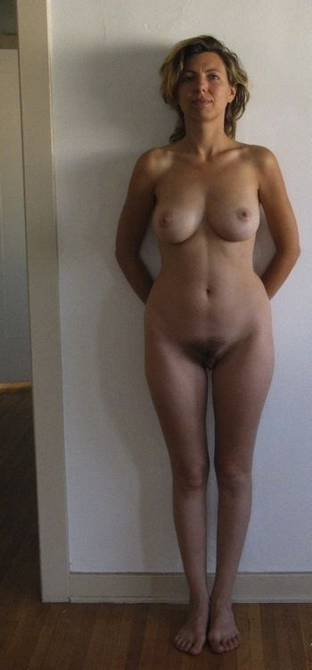 standing Mature hairy blonde nude