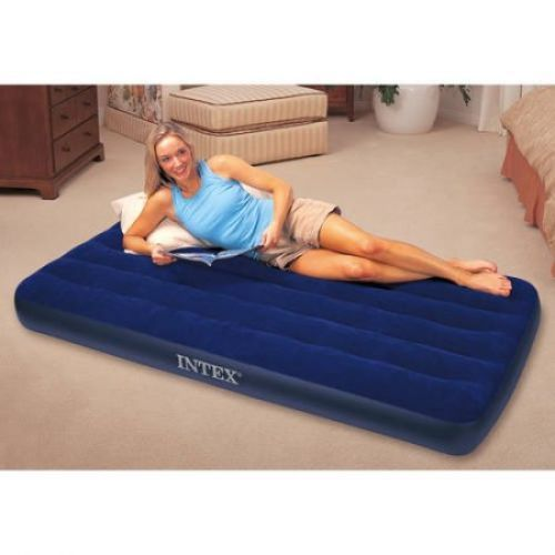 Inflatable Airbed Air Mattress Twin Size Portable Camping Blow-Up Bed Guests