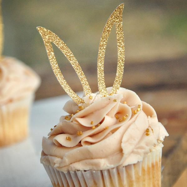 Bunny Ear Cupcake Toppers 12CT. Bunny Cupcake Decorations. Easter Cupcake Picks. -   18 holiday Easter baby shower ideas