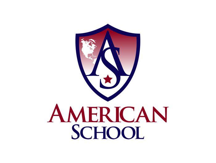 american school educational logo also part of our logo design rh pinterest com school logo design template school logo design template