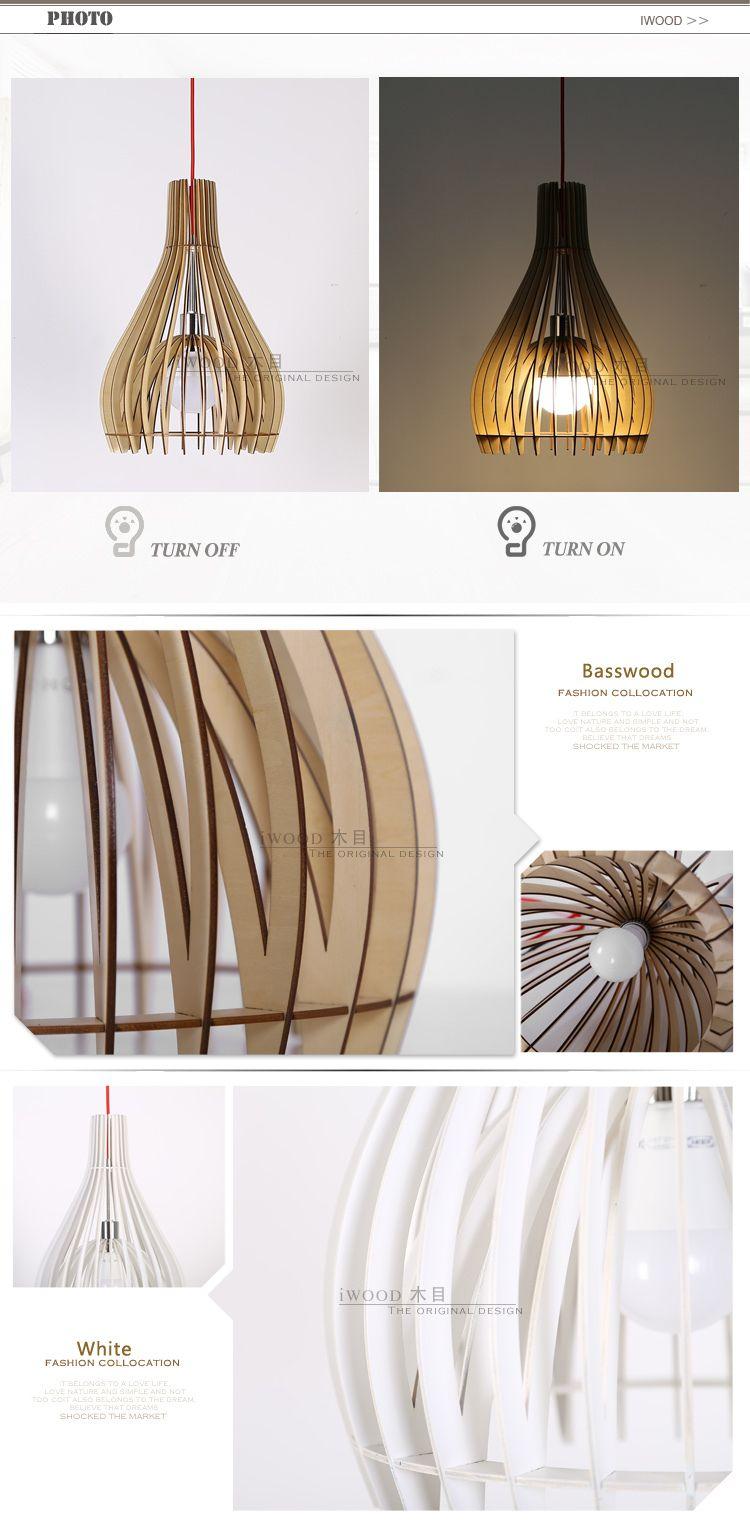 CE Certificate Decorative Fancy Led Pendant Light View IWood Product Details