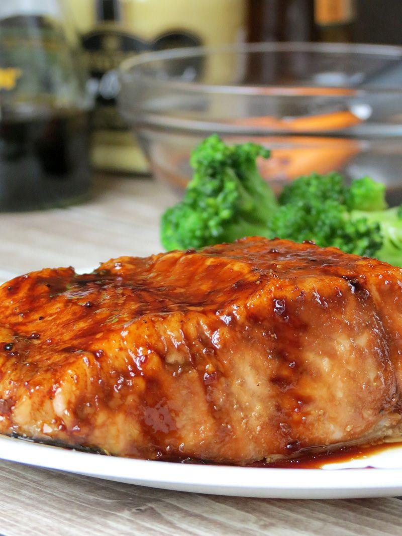 Bourbon Glazed Salmon - Yummy Addiction