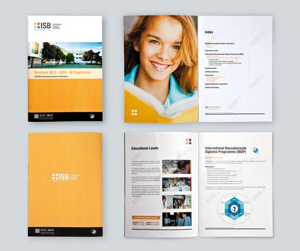 Brochure de información para un colegio.