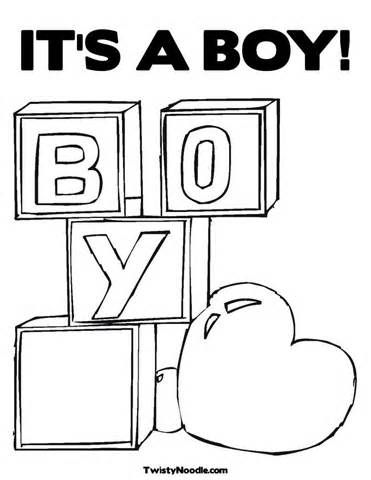 Image result for it 39 s a boy colouring pages Baby Baby