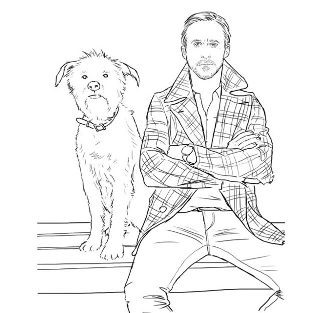 A Ryan Gosling Coloring Book Coloring Books Ryan Gosling Coloring Pages