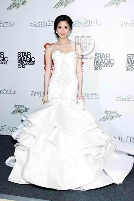 Another white gown of Kim Chiu Beautiful!   kim chiu   Pinterest ...