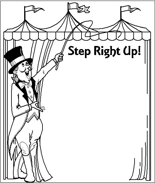 free printable circus clip art carnival coloring page
