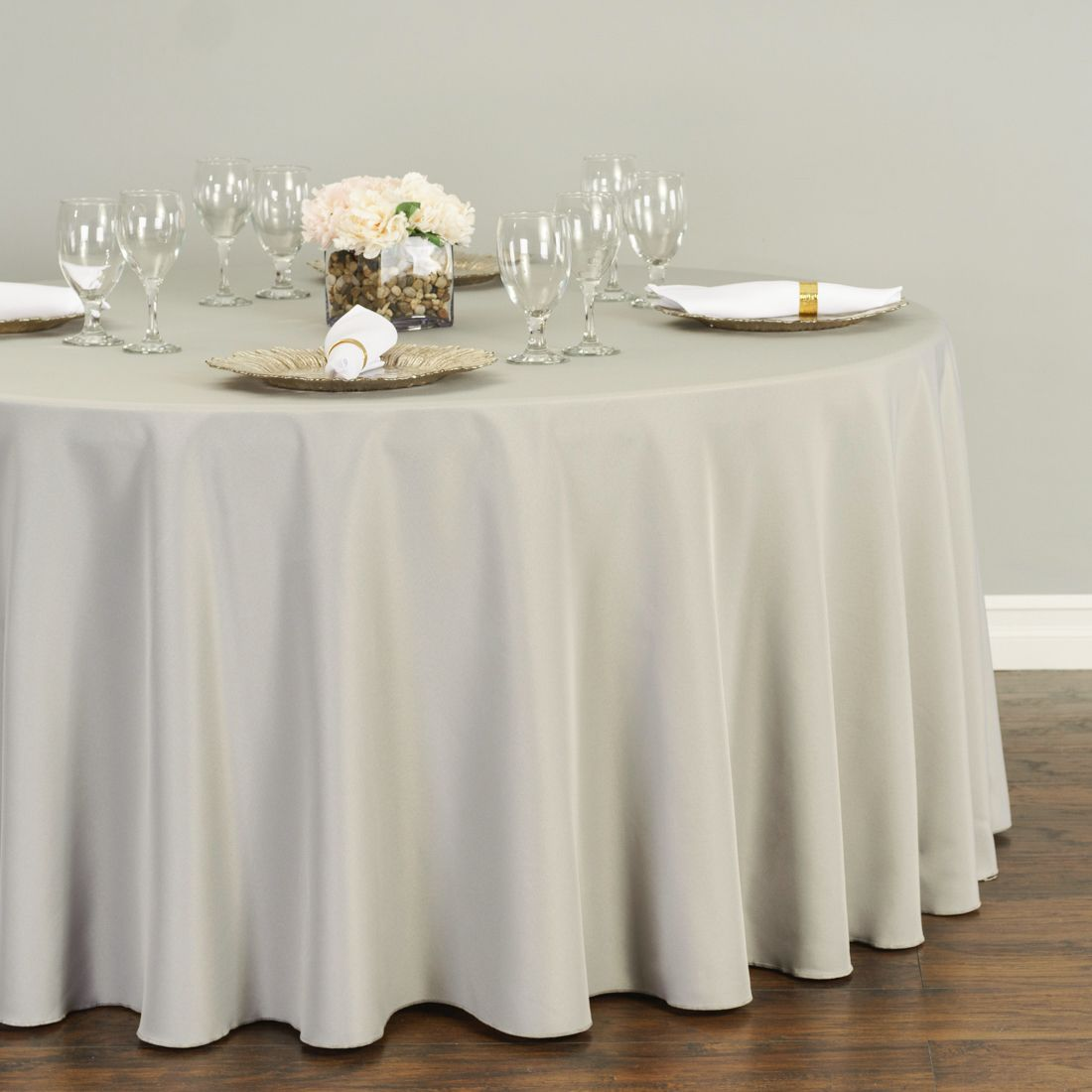 108 In Round Polyester Tablecloth Round Tablecloth Table Cloth Wedding Tablecloths