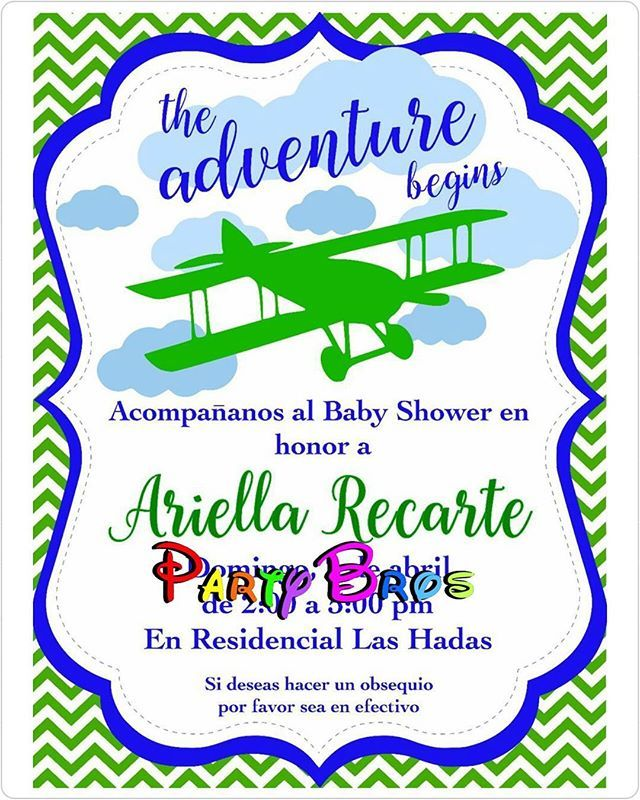 Tarjetas de invitación. #Cumpleaños #BabyShower #ItsABoy #EsNiño #LittleBoy #Airplane #AirplaneBabyShower #Detalles #TarjetasDeInvitacion #evedeso #eventdesignsource - posted by Party Bros Honduras https://www.instagram.com/party_bros. See more Baby Shower Designs at http://Evedeso.com