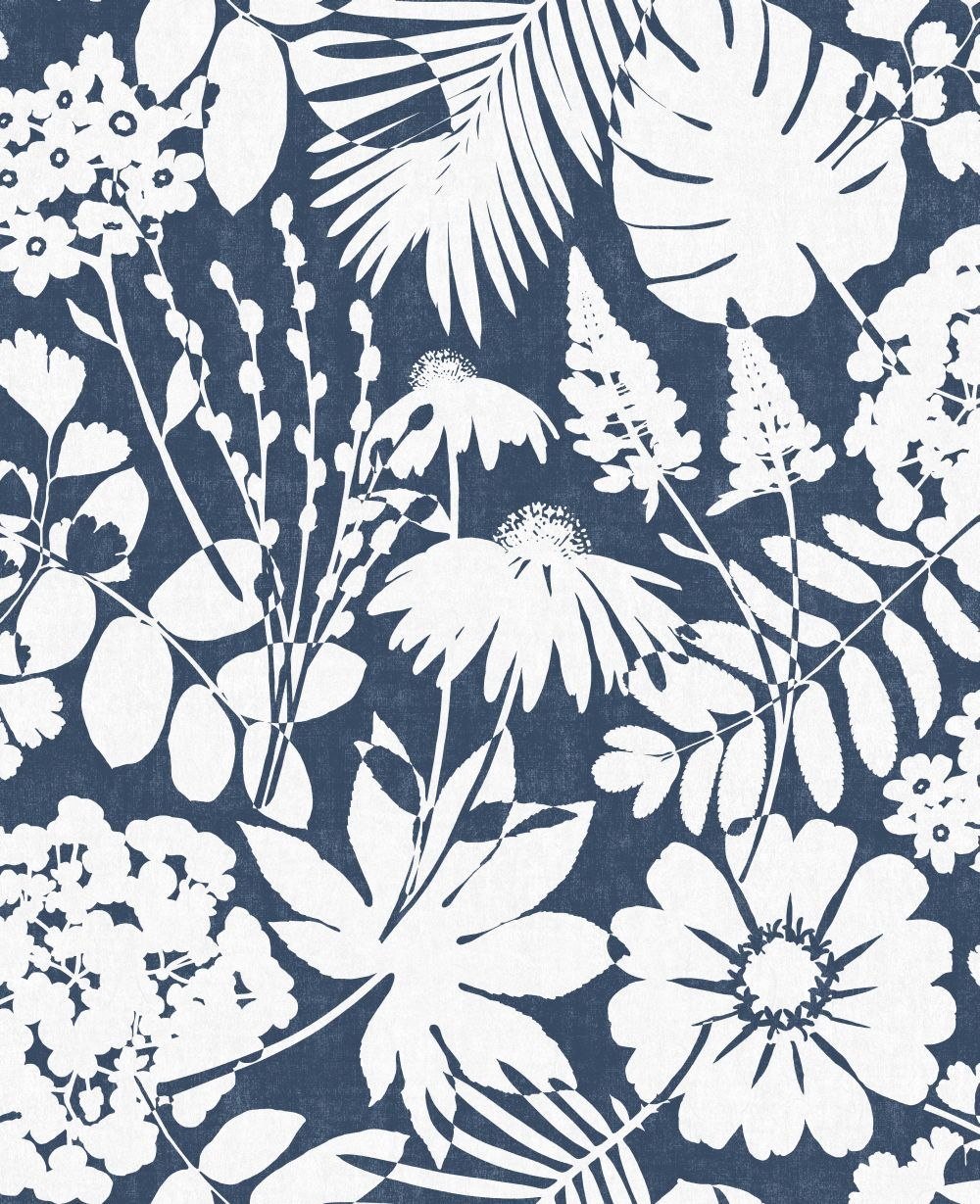 Bold Floral by Albany Navy Blue Wallpaper CB42108