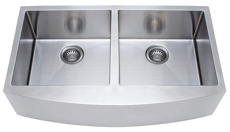 Franke Kinetic 33 Apron Front Farm House Double Bowl Kitchen Sink