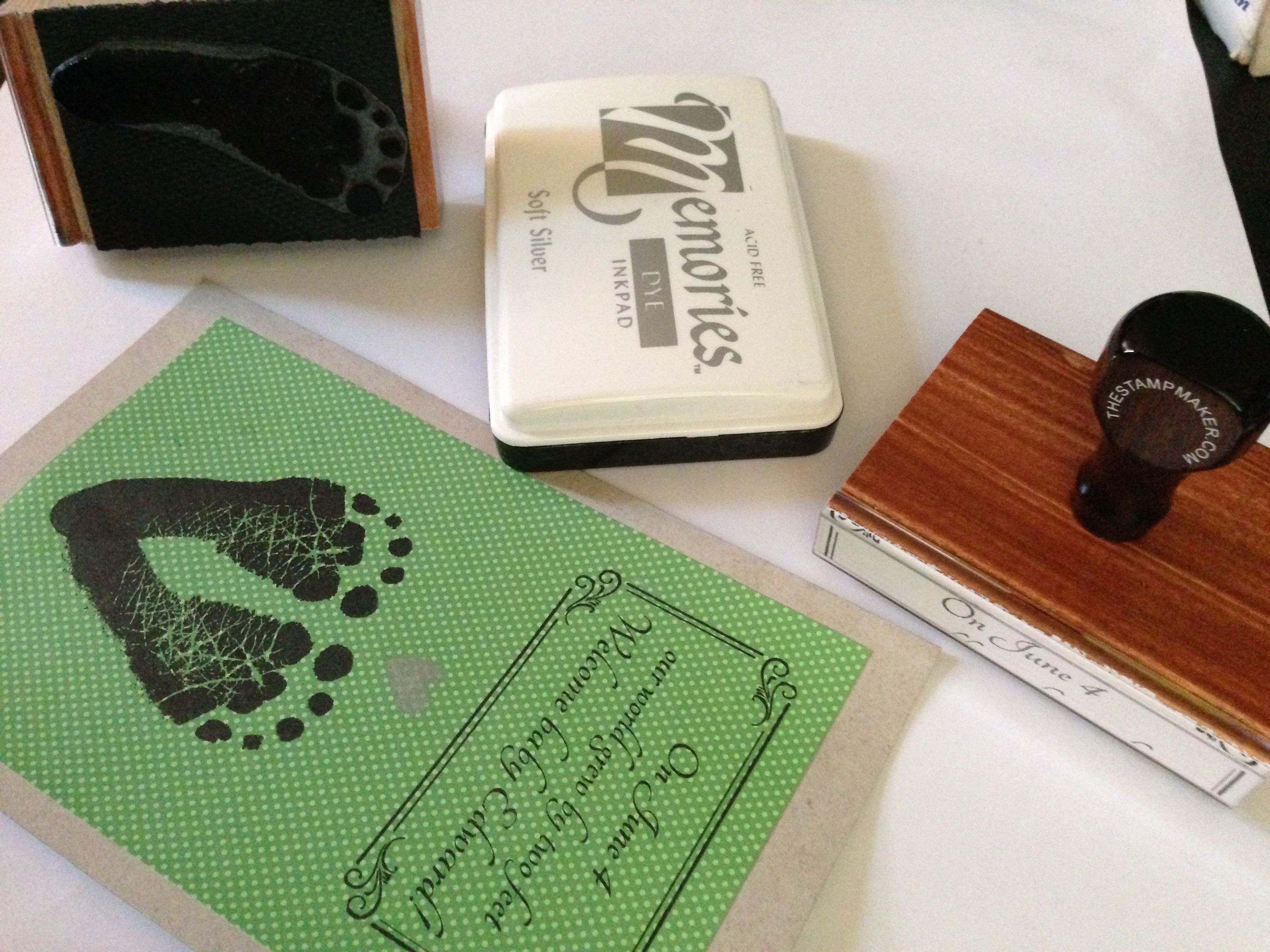 Make your own birth announcements with stamps and child safe, non ...