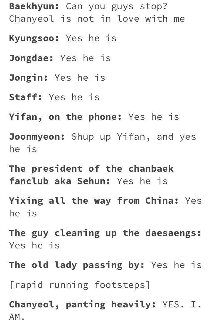 Don T Deny It Baek You Just Shy To Say It Exo Funny Exo Memes Kpop Exo