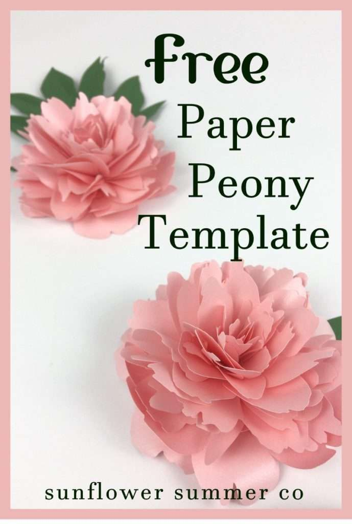 how to make paper peonys. They are easy to make and fun. Paper crafts | cricut flowers | silhouette projects | paper flower templates | paper flower patterns | wedding flowers |