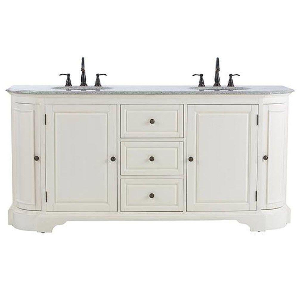 Home Decorators Collection Davenport 73 in. W x 22 in. D Double Bath ...