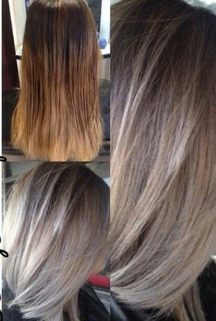 Brown To Ash Blonde Ombre Hair Styles Ash Blonde Ombre Hair