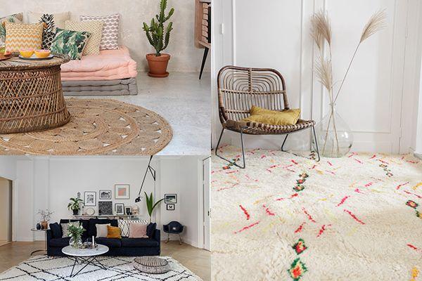 quel style de tapis choisir pour une d co boh me inspiration projet pinterest tapis deco. Black Bedroom Furniture Sets. Home Design Ideas