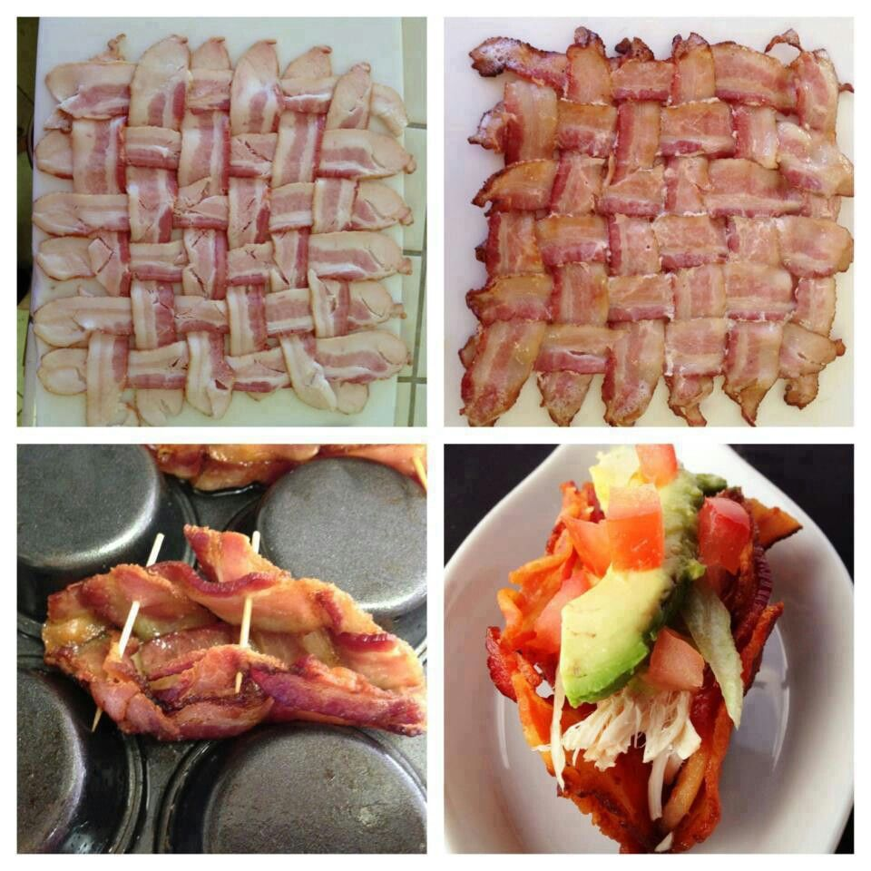 Bacon tacos- this is paleo friendly! | foods I'll try someday | Pinte ...