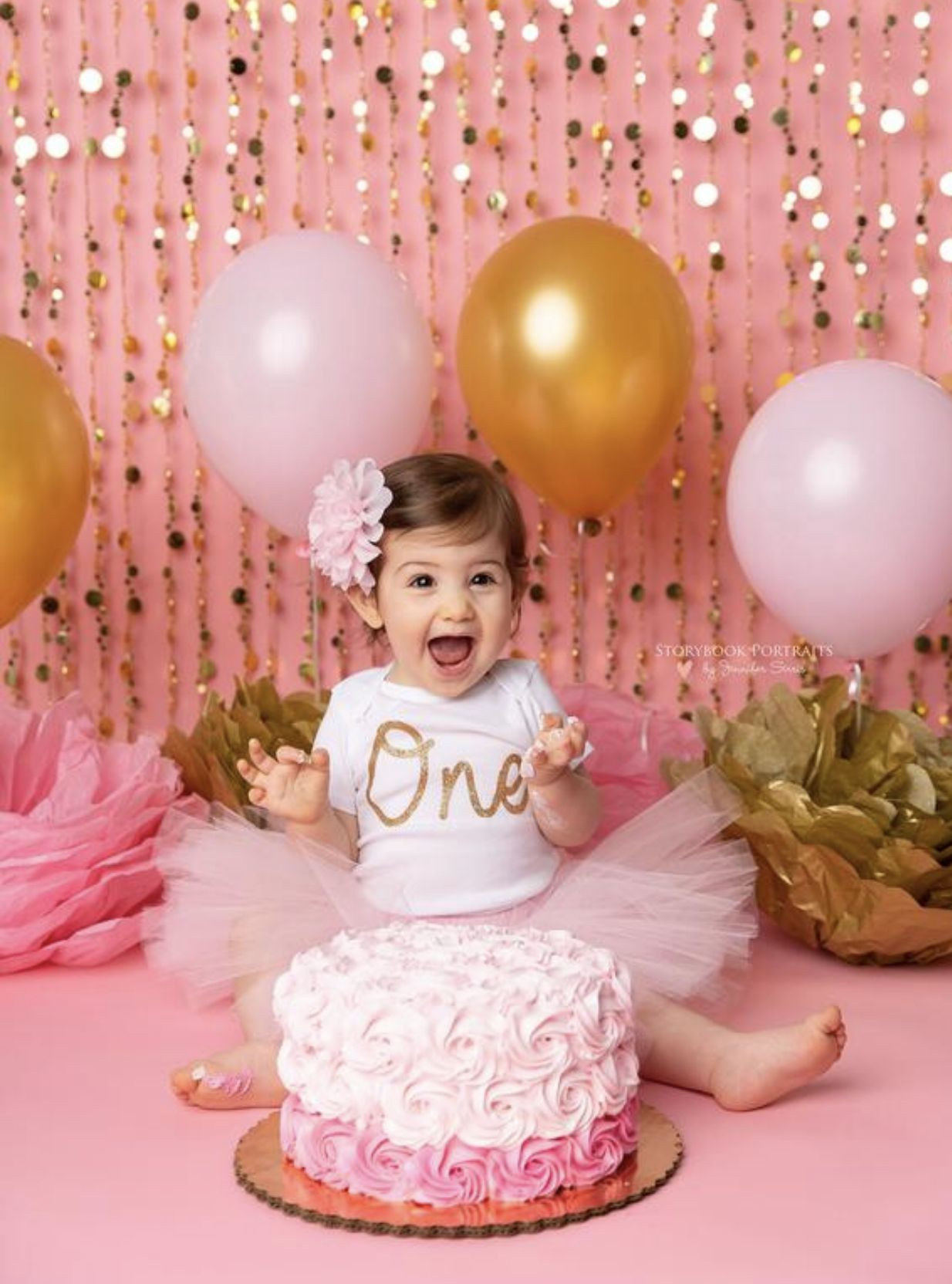 Happy to be one! in 2020 Birthday girl pictures, Cake
