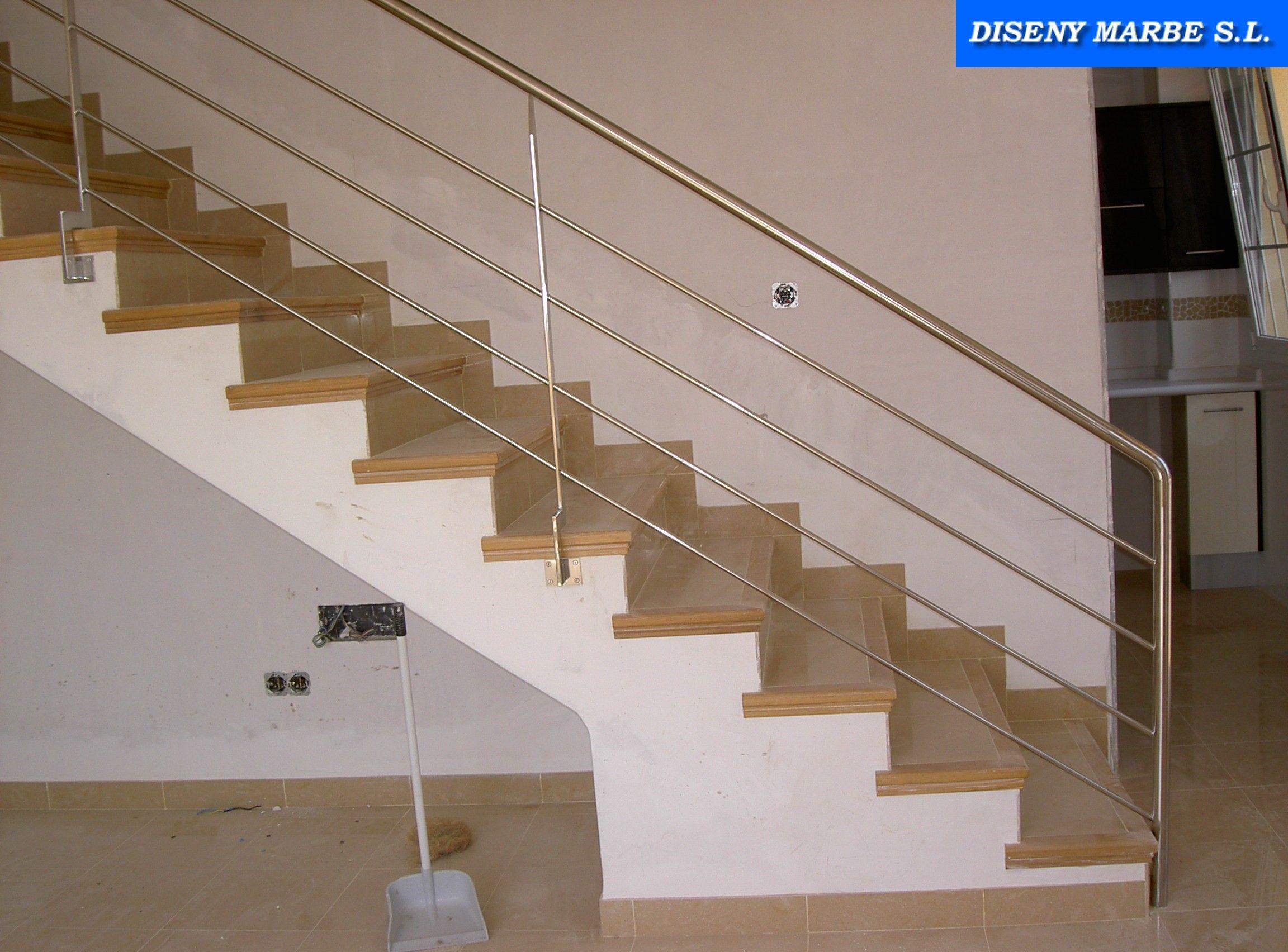Barandilla escalera de acero inoxidable con varillas | Barandillas ...