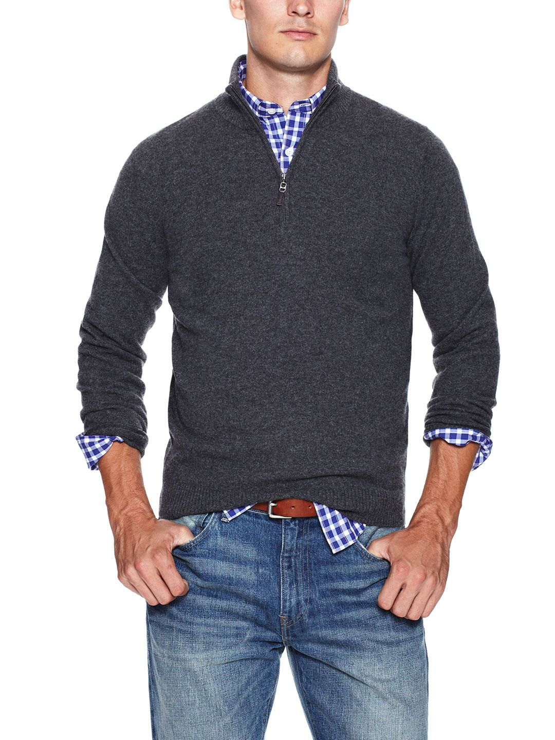 Partial Zip-Front Cashmere Sweater by Dartmoor at Gilt ...