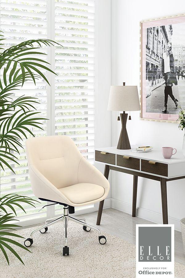 Elle Decor Furniture Seating Office Depot Officemax Home Office Decor Home Elle Decor