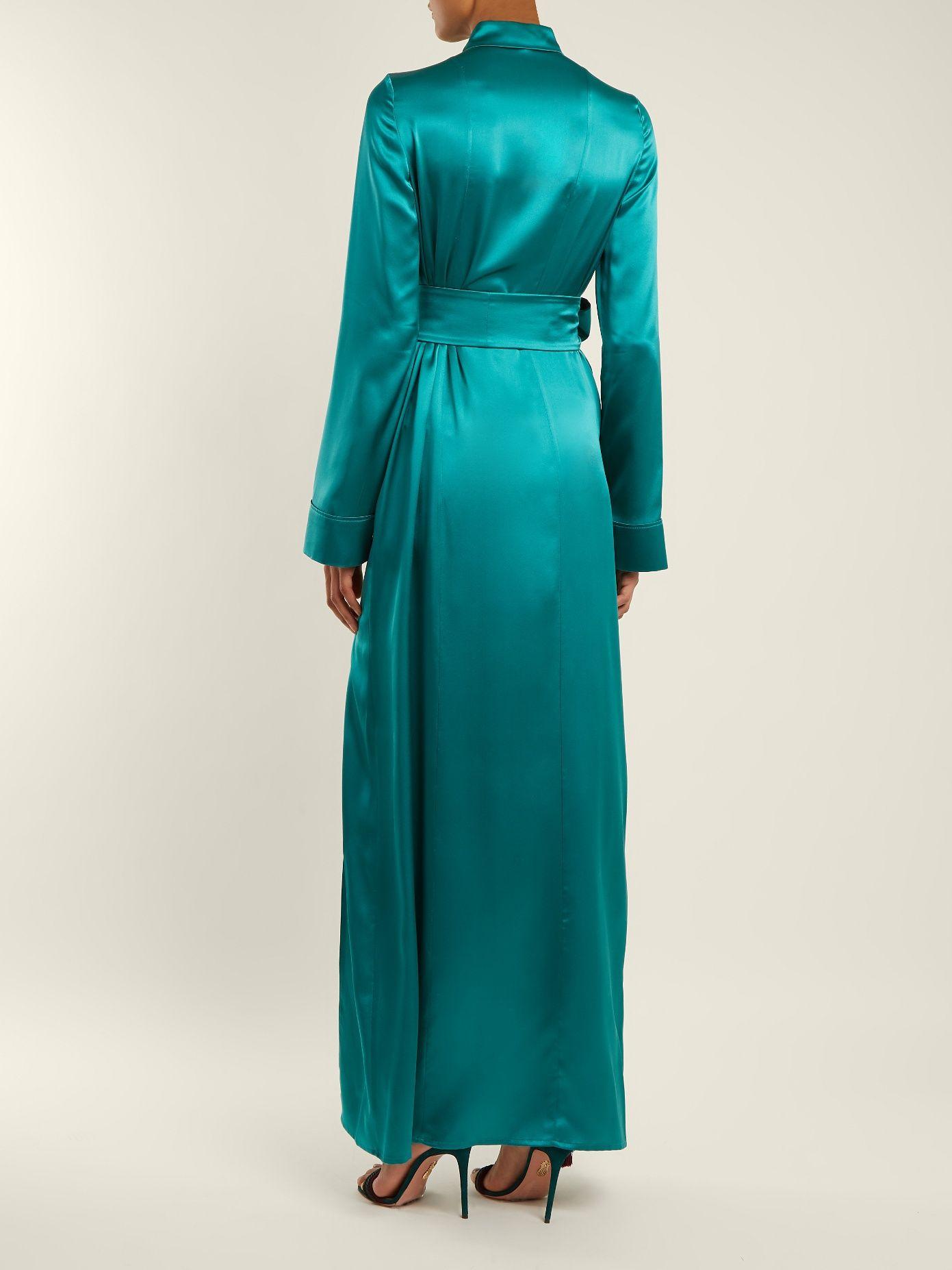 Choice Cheap Online Laguna tie-waist silk-satin dress Galvan Cheap Sale Shop For Free Shipping New Styles Fake Sale Online How Much X6cmTt