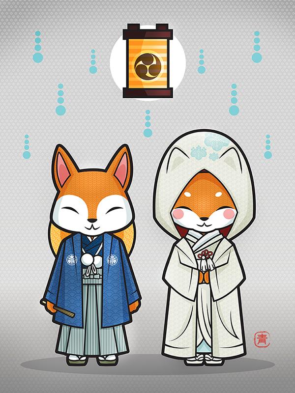 Fox Wedding / El casamiento de los zorros on Behance
