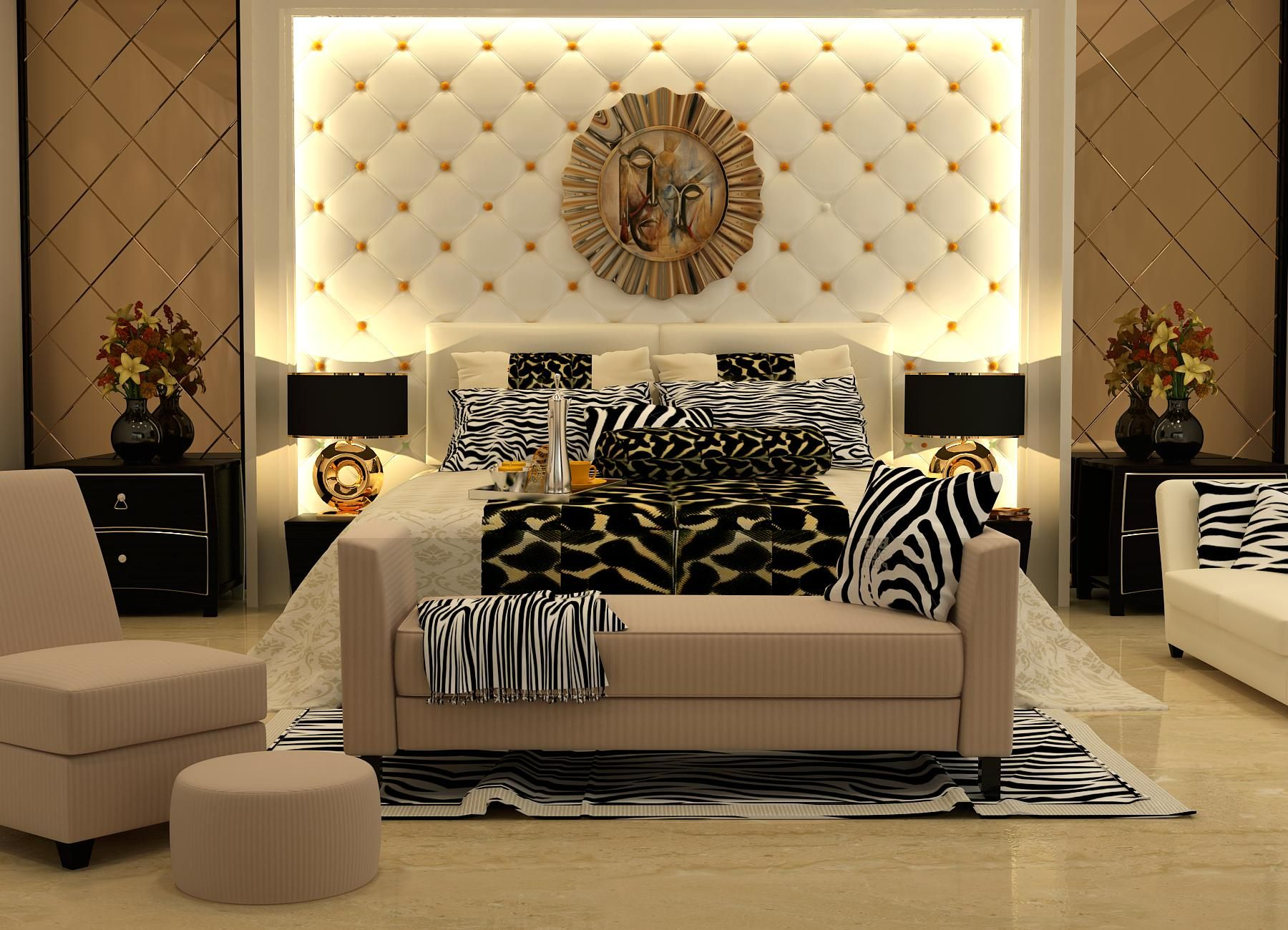 Master Bedroom in the High-end luxury category consisting ...
