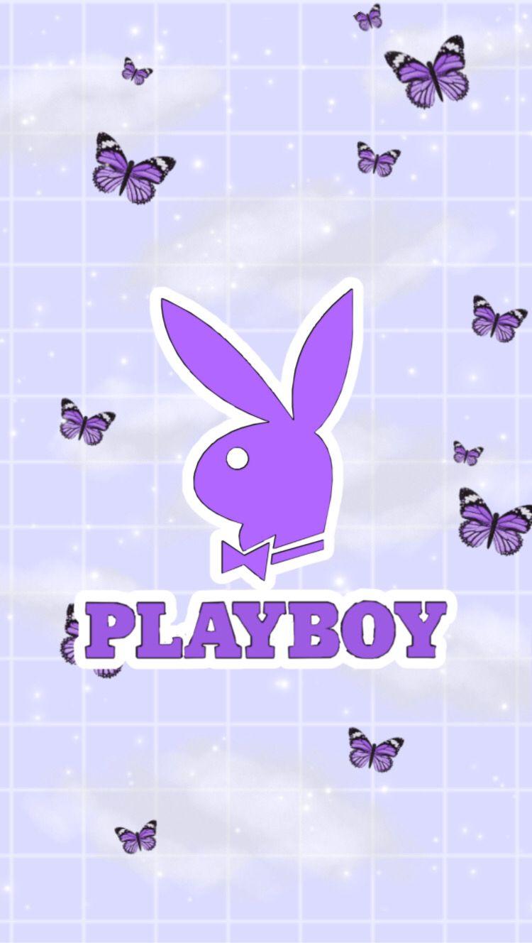 Aesthetic Purple Playboy Wallpaper