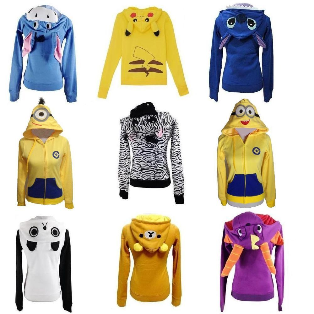 Minions Hoodie 3D Animation Clothes Cosplay Coat