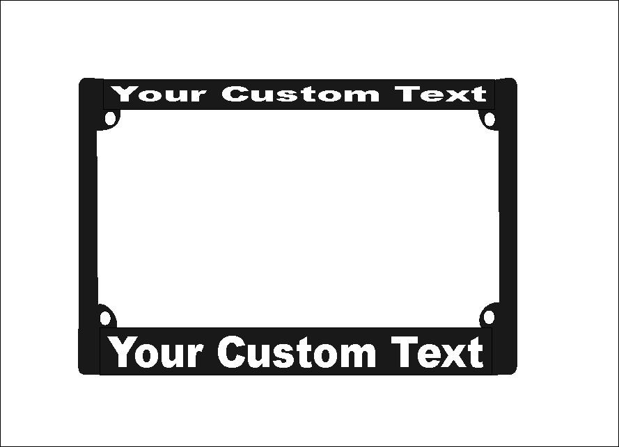 Custom Motorcycle License Plate Frame | Custom Motorcycle License ...