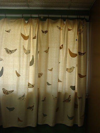 Ashleigh S Appliqued Drop Cloth Curtains
