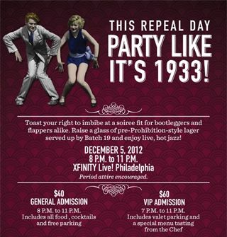 Xfinity Live And The National Constitution Center Team Up To Host A Repeal Day Party Wednesday December 5 National Constitution Party Day