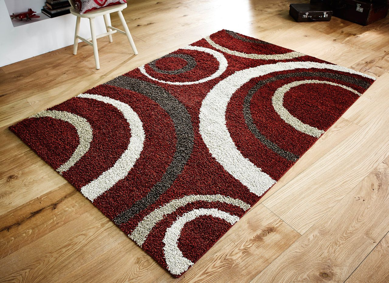 Delightful Aura Red / Brown / Cream Rug 3922C   Martin Phillips Carpets   Martin  Phillips Carpets