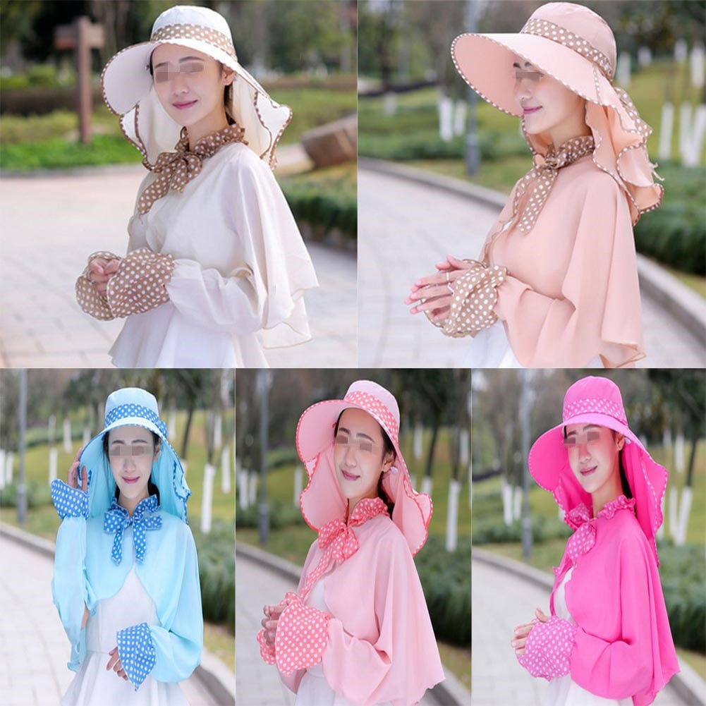 4678f55d3f878 Lady Wide Brim Foldable Summer Beach Sun Hat Outdoor Anti-UV Riding ...