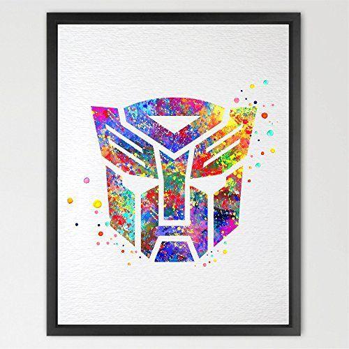 Dignovel Studios 11X14 Transformers Autobots Symbol Watercolor Art Print Wall Art Poster Kids Room Decor Wall Hanging Birthday Gift Boys Room Playroom décor N315, http://www.amazon.com/dp/B01AF5BN5A/ref=cm_sw_r_pi_awdm_x_H3Rbyb2449B2G