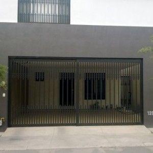 Puerta de garage corrediza de fierro con barrotes - Puertas para garage ...