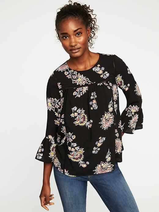 a13b805bac Old Navy Ruffle-Sleeve Swing Top for Women